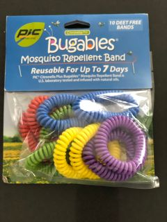 10pk Bugables - mosquito repellent bands