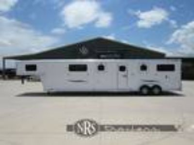 2020 Trailers USA 4 Horse Head to Head Gooseneck Trailer with Side R 4 horses