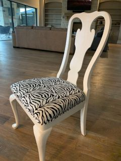 Zebra print chair