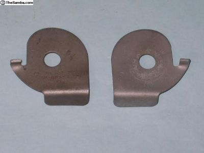 seat belt lock plate '67 bug pass. side only
