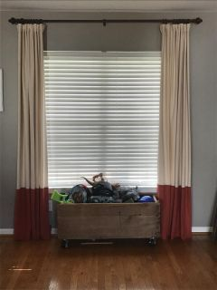 Pottery Barn curtains with rings