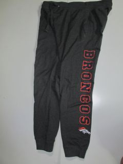 DENVER BRONCOS NFL JUNIOR COLLECTION SWEAT PANTS - JUNIORS M 7/9