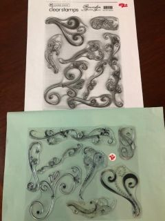 CLEAR STAMP SET - FLOURISHES