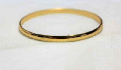 NWOT Gold Tone Thin Bangle Boho Bead Cuff Chain Bracelet Statement