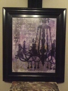 Funky Chandelier Picture with Black Frame