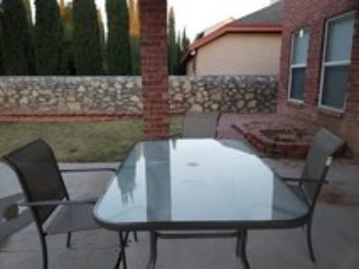 outside table &4 chairs