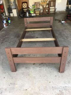 Solid wood twin size bed