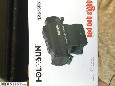 For Sale: New in box Holosun red dot!!