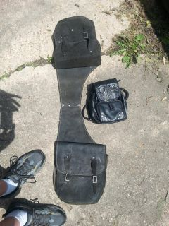 All leather back pack style