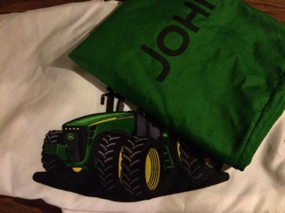 John Deere twin bedding (one fitted sheet, one flat sheet and one pillowcase)