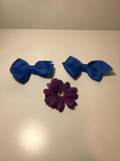 Clip in bows and flower g4