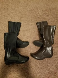 Black and Brown boots