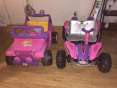 12v jeep and dune racer power wheels