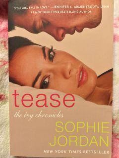 TEASE (The Ivy Chronicles) by New York Times Bestseller Sophie Jordan - AUTOGRAPHED