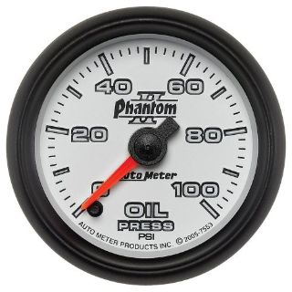 Buy Auto Meter 7553 Phantom II; Electric Oil Pressure Gauge motorcycle in Rigby, Idaho, United States, for US $214.95