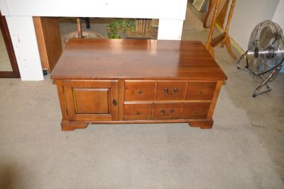 Cherry Coffee Table with drawers & door