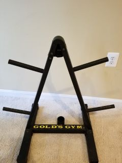 Golds gym weight rack
