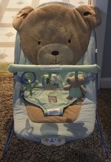 Carters Bear Bouncy Chair (plays music and vibrates)