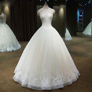 Carmen's Beaded Halter Top Ball Gown