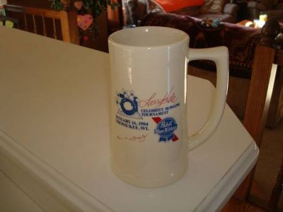 Stunning 1984 PABST BLUE RIBBON Beer Stein Larry Hisle Bowling Tourney