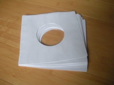 "package of 20, 45 rpm 7"" record sleeves 20# white paper. 100% acid-free."