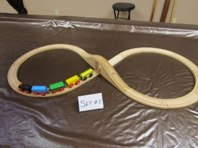 WOODEN TRAIN & TRACK SET #3