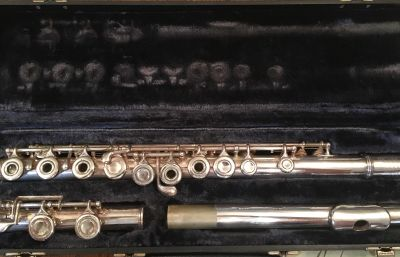 Artley silver flute with case