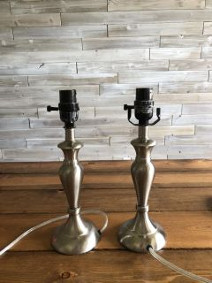 2 Good condition side table lamps