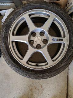 FS: Enkei Mitsubishi Evo VIII OEM Wheels