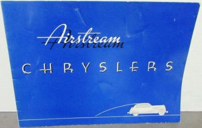 Buy 1935 Chrysler Airstream Models Six and Eight Original Color Sales Brochure motorcycle in Holts Summit, Missouri, United States, for US $84.35