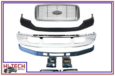 Purchase NEW 05 06 07 FORD F350 SUPER DUTY CHROME FRONT BUMPER COMBO 5C3Z 17757 BA 7728 motorcycle in Buda, Texas, US, for US $550.00