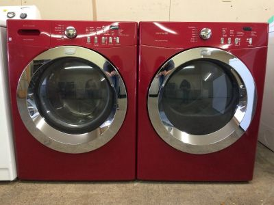 Frigidaire Affinity HE Electric Washer and Dryer Set in Red