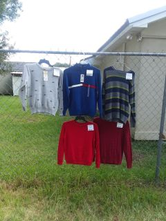 5 boys size 8 sweaters 3 still have tags one retails for $42 $6-$15 each or $40 for all 5