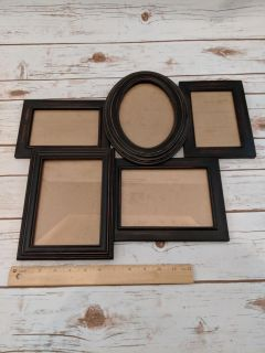 EUC Wooden Wall Picture Frame Collage