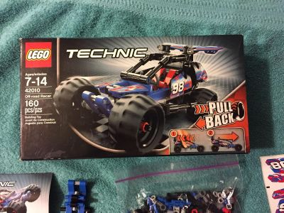 LEGO 42010 Off Road Racer Technic Pull Back 160 pieces