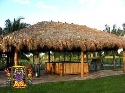 Thatching For Tiki Hut | Big Kahuna Tiki Huts