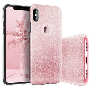 iPhone 10 Pink Sparkle Case