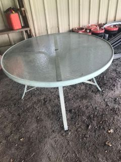 Round metal glass table (table only) Northampton Pickup
