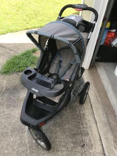 Stroller with speakers included