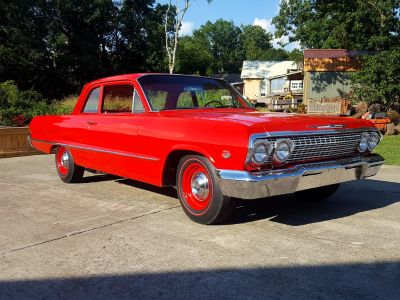 1963 Chevrolet Bel Air 409 dual fours for4 speed 525hp for&a