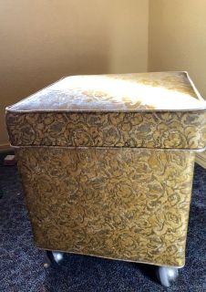 Vintage Sewing Ottoman