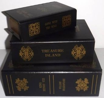 Set of 3 Classics ~ Secret Storage Book Box Decor