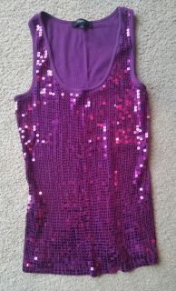 Express sequined tank size Juniors L
