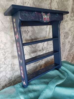 Custom painted butterfly shelf