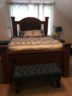 Ashley furniture queen poster bed