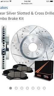 07-13 six lug front, cross drilled rotors and pads for GMC Sierra or Chevy Silverado