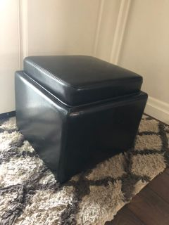 Square 18 Storage Ottoman with tray guc $15 p/u Ladner