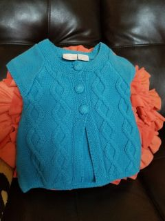 Adorable baby girls cable knit sweater size 6-9 months