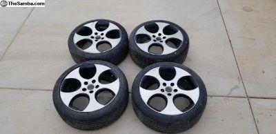 "RONAL 7.5 X 18"" Wheels w/new tires"