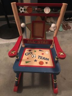 Picture holder sports rocking chair